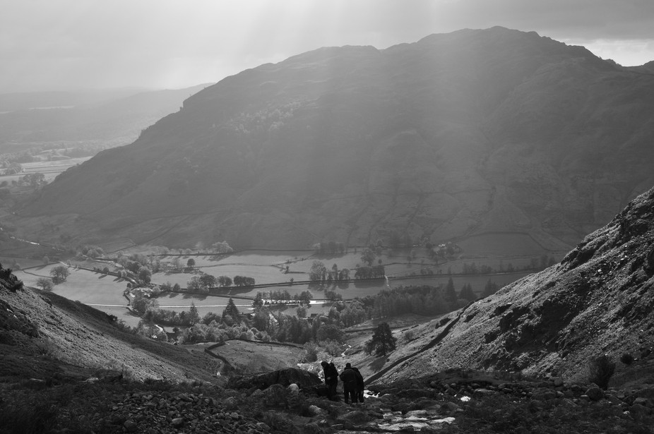 Dark clouds and sunshine in the Lake District, a photographer's paradise.