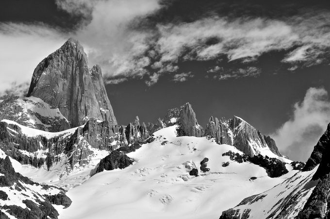The Icy summit by hamport - Black And White Mountain Peaks Photo Contest