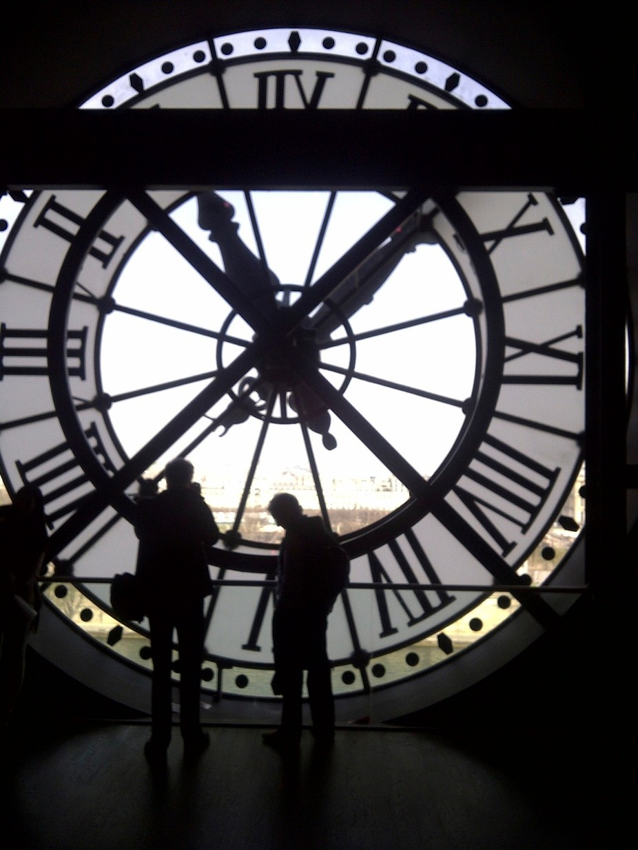 The clock of Gare D'Orsay Paris from the inside