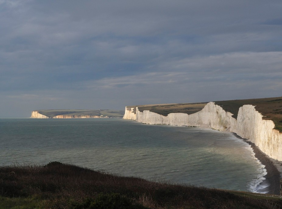 The cliff walk along the South Downs Way near Eastbourne