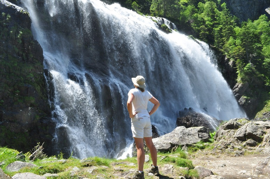 Cascade d'Ars in the Pyrenees is an awesome sight (and sound), particularly in the spring.