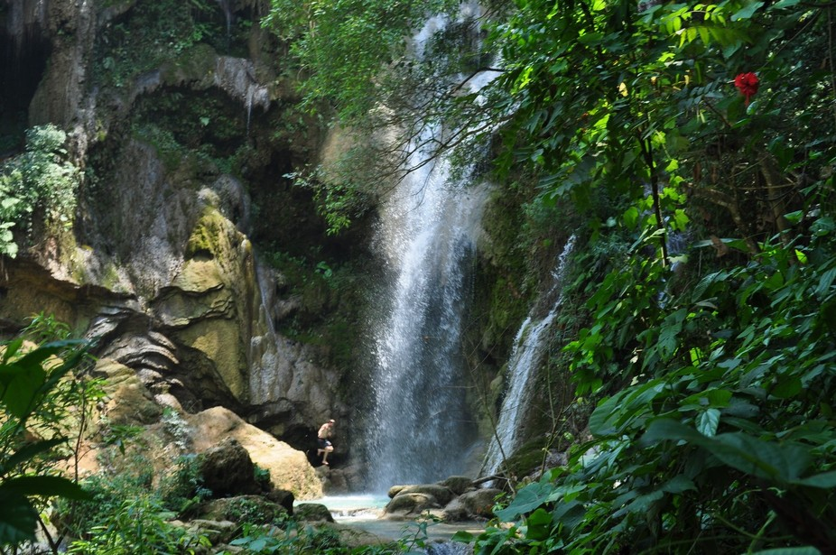 A waterfall in Laos.