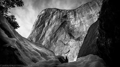 Yosemite El Capitan Side VIew B&W