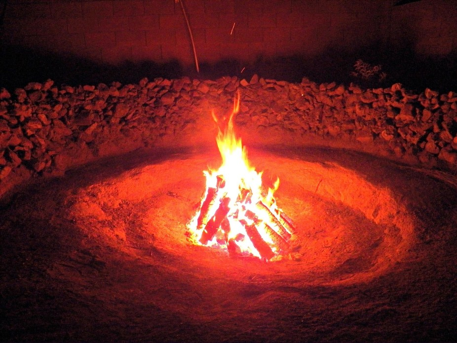Fire pit in canyon