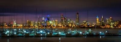 Lights of Melbourne from St Kilda.