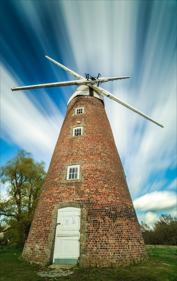 Suffolk windmill by fatfoxphotography - The Moving Clouds Photo Contest