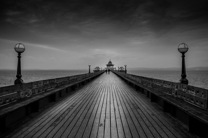 Clevedon Pier B&W by JamesChisholmPhotography - Parallel Compositions Photo Contest