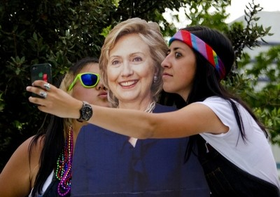 Selfies with Hillary