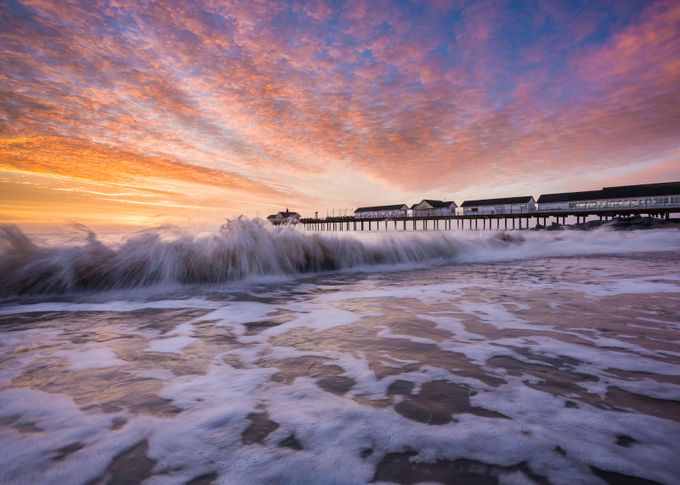 Racing Waves - Southwold by aaronhill - Showing Movement Photo Contest