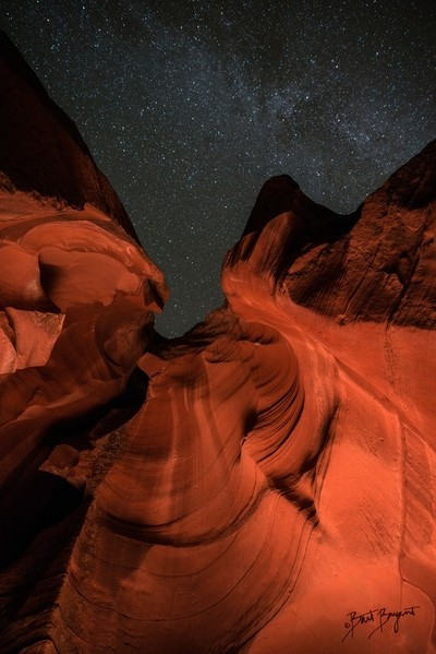 Antelope Canyon At Night
