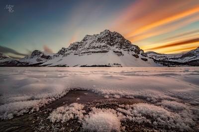 Bow Lake Sunset
