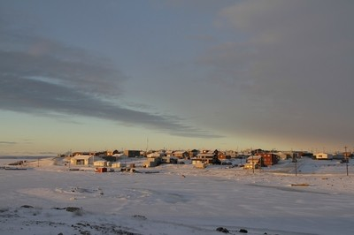 Cambridge Bay in winter