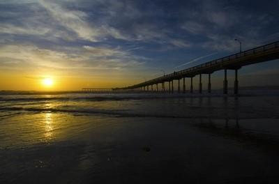 Sunset at the Ocean Beach Pier