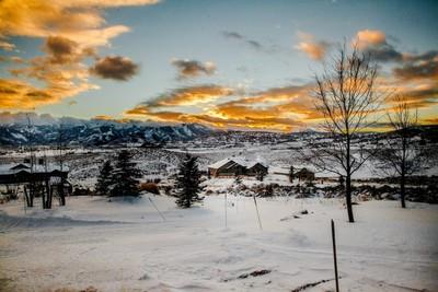 Beautiful winter evening in Utah