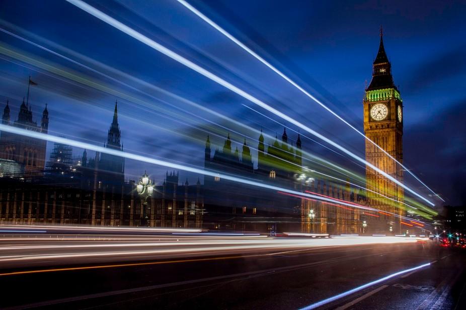 Light Trails Westminster
