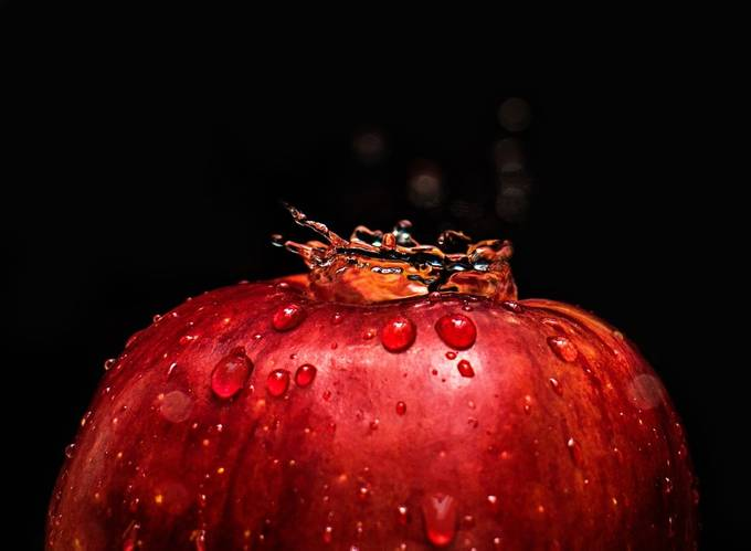 Apple Splash by dessievill - It Is Red Photo Contest