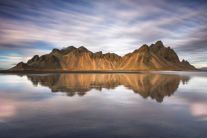 Stokksnes, reflection by madspeteriversen - Clouds In Movement Photo Contest
