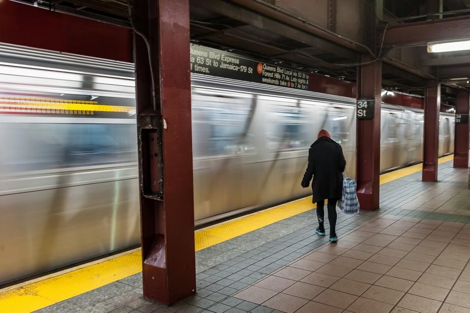 Taken in Sept 2013, New York subway station