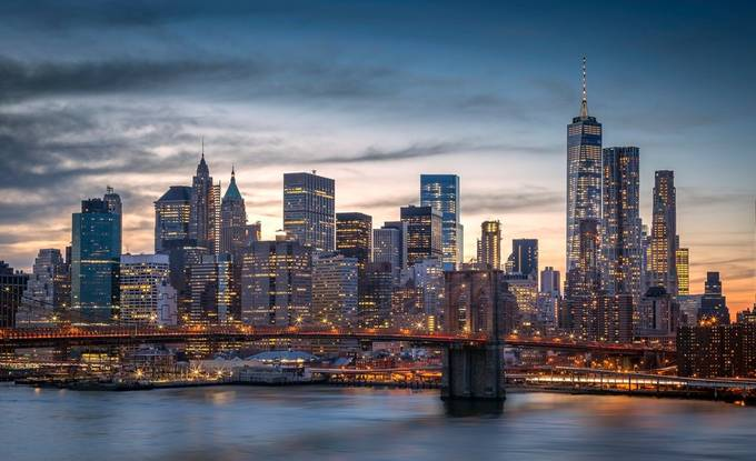 New York Sunset by valshvetsov - City In The Night Photo Contest