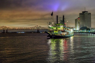 Mighty Mississippi Riverboat in New Orleans
