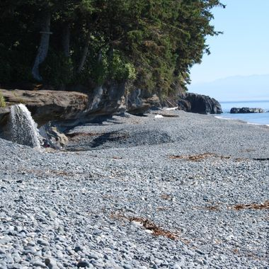 Sept 12, 2015 Waterfall at Sand Cut Beach Southern end of Vancouver Island