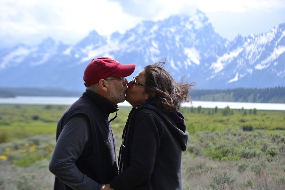 My wife and I got married in front of the Grand Tetons. Our dream come true....