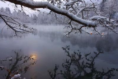 Sunset on Blue lake.