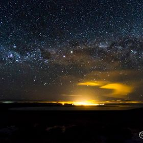 Stars and milky way photographed in the Patagonian sky, Argentina.
