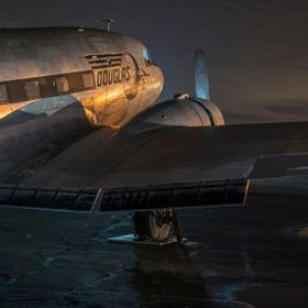 A retired Douglas DC-3 sits just off the runway near Lodi CA acting as a billboard for a diner/Skydiving location. Sadly you won't see this ...