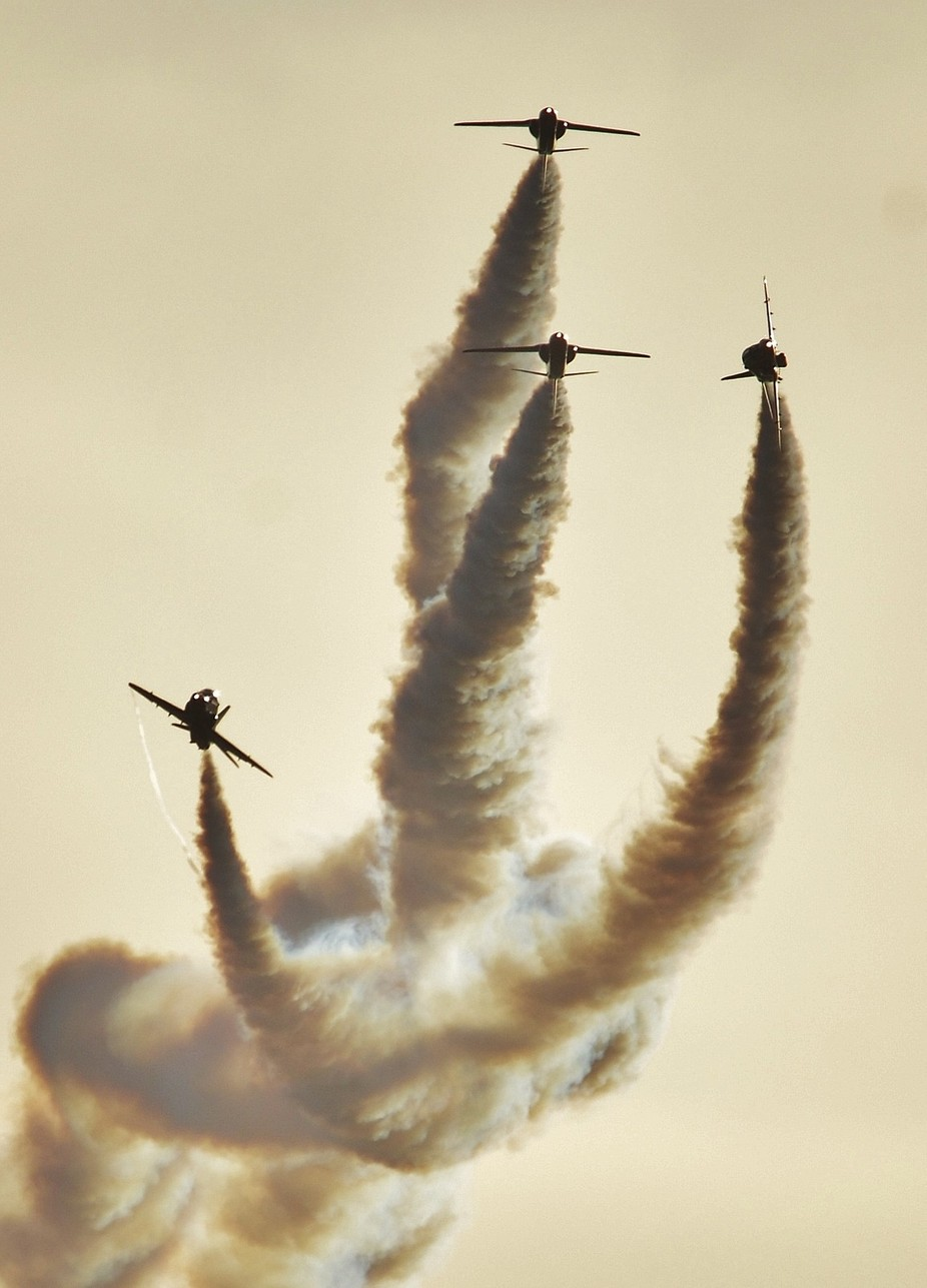 Red Arrows  by Magnaphotography - Everything Smoke Photo Contest