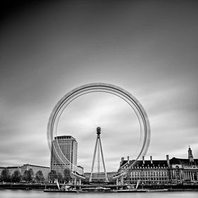 A long Exposure Shot of the London Eye, UK.