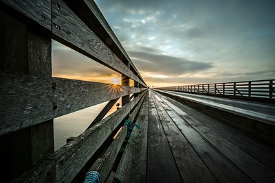Wooden bridge, Clontarf, Dublin