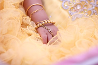 Cute hand coupled with gold