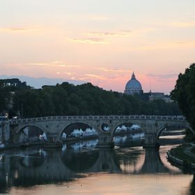 Rome - the dome of St Peter's Basilica in the background.