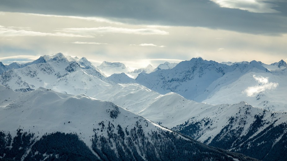 A cold and windy day in the Tyrolian Alps.