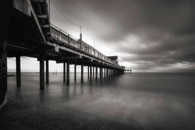 Under the pier by Dickiebird - Clouds In Movement Photo Contest