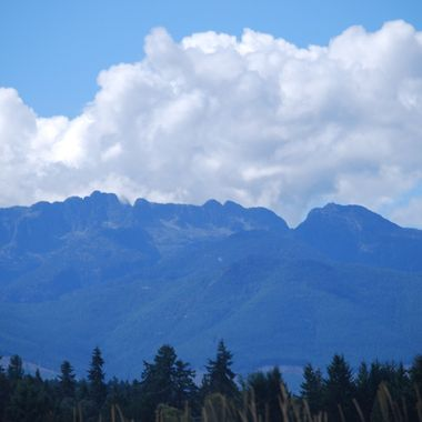 Mountains from Hirst in Parksville - 2015