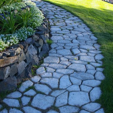 06July07 - Rock Paved Path in Savona, BC