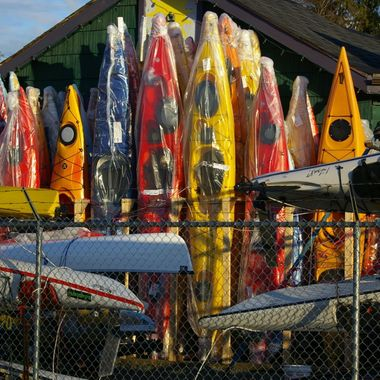 March 7, 2007 Kayak store in Courtenay, B.C. on Vancouver Island
