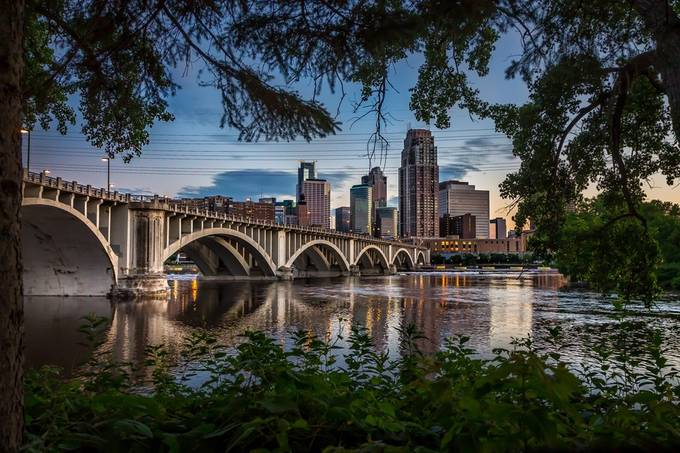 Downtown Minneapolis by carlosgrant - Spectacular Bridges Photo Contest