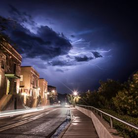 Lightning in Jerome, Arizona.