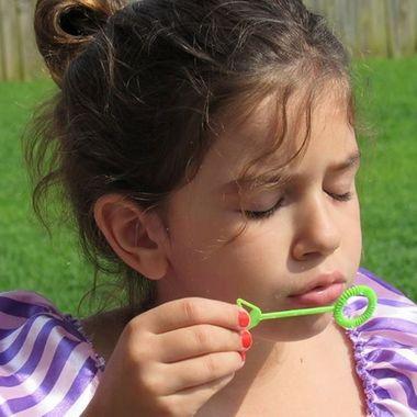 Princess blowing bubbles