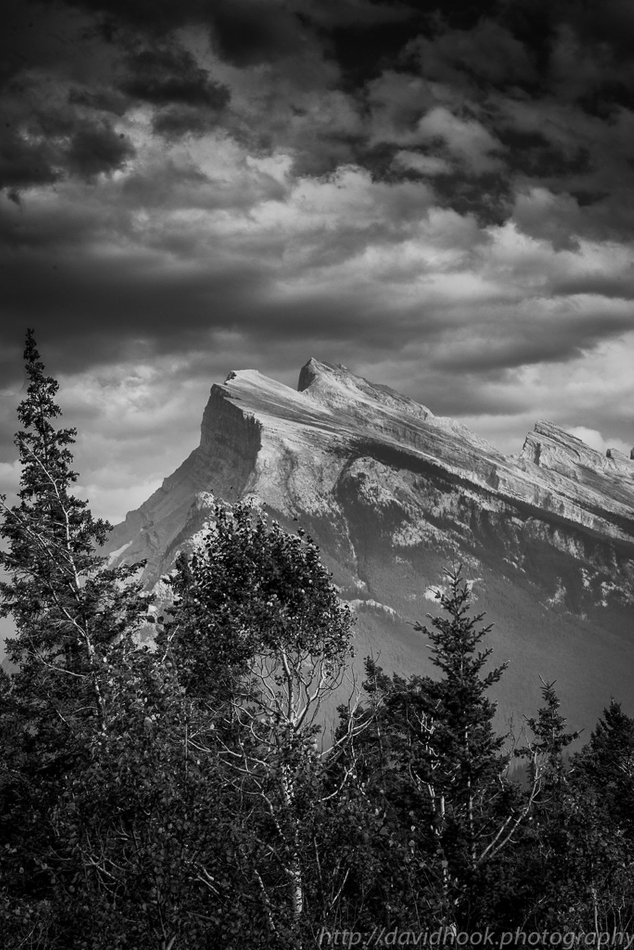 Mount Rundle by Davehook - Landscapes In Black And White Photo Contest