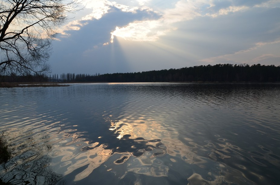 lake near Kiev city