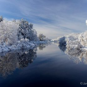 Winter river reflection 1