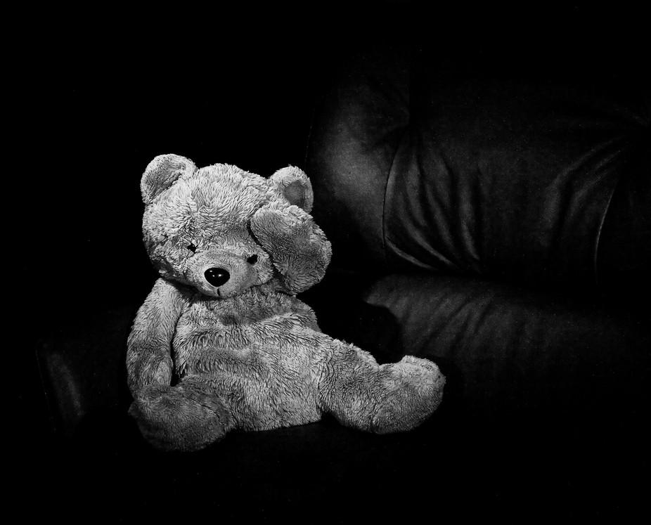 Grandson left his teddy bear behind.