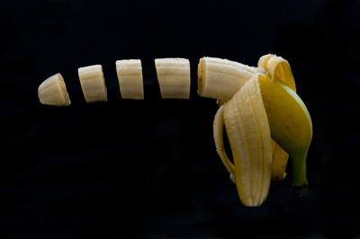 Banana chopped
