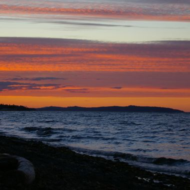 Qualicum Beach Sunset - 21 July 2008