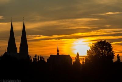 Lübeck in Sunset