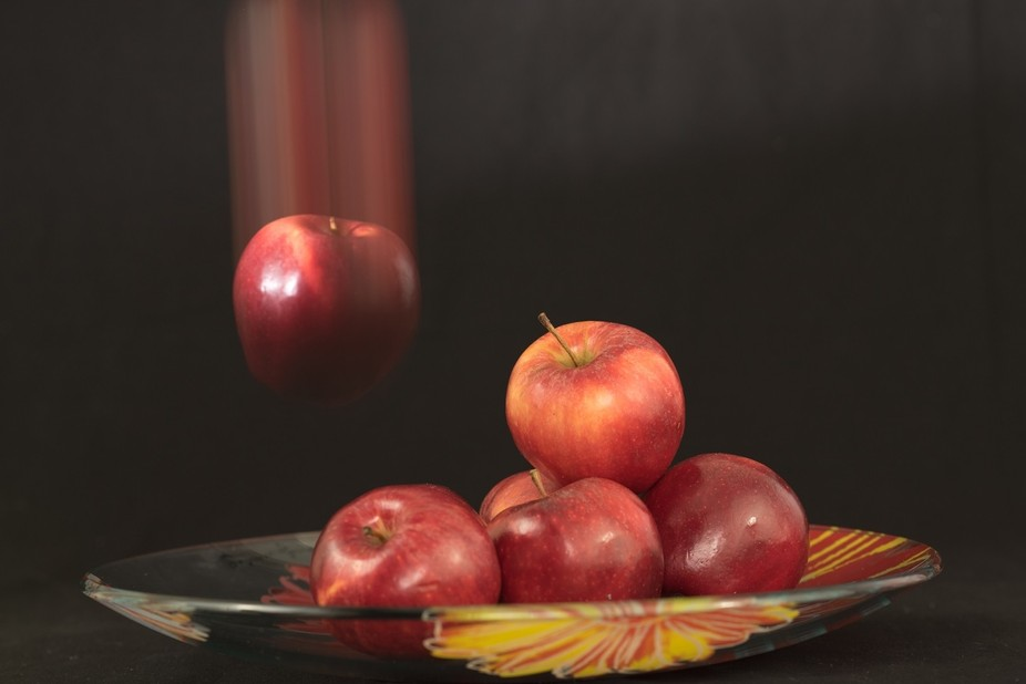 Have some fun with apples and rear sync flash